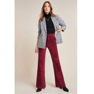 Anthropologie Carson Suede Bootcut Trousers Size 2